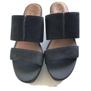 Naturalizer Flatform Black Leather Upper